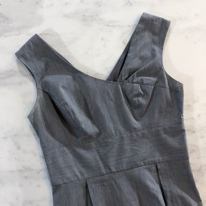 A. Byer Dresses - Asymmetrical Neckline Grey Dress